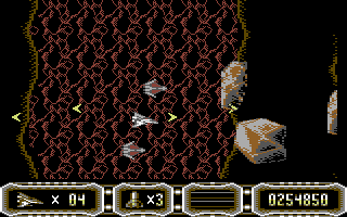 Enforcer: Fullmetal Megablaster Commodore 64 Destroy the rocks before they hit you