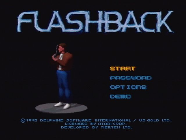 Flashback: The Quest for Identity Jaguar Title Screen