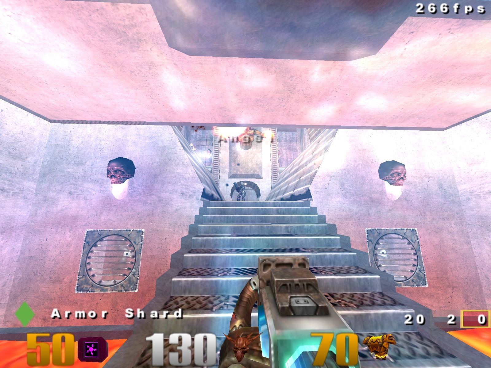Quake III: Arena Windows Standing in the regenerator while fighting Angel.