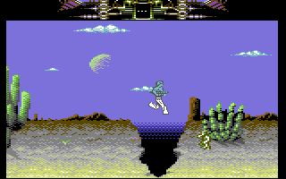 Another World Commodore 64 Jumping over a large chasm