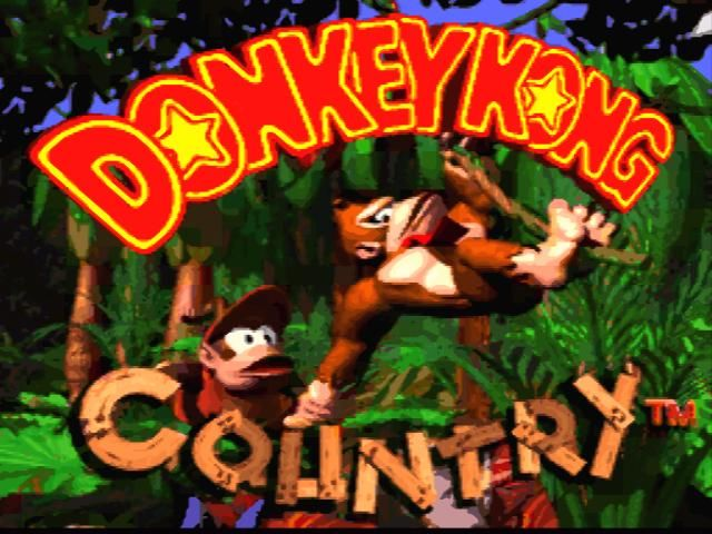 Donkey Kong Country SNES Title screen