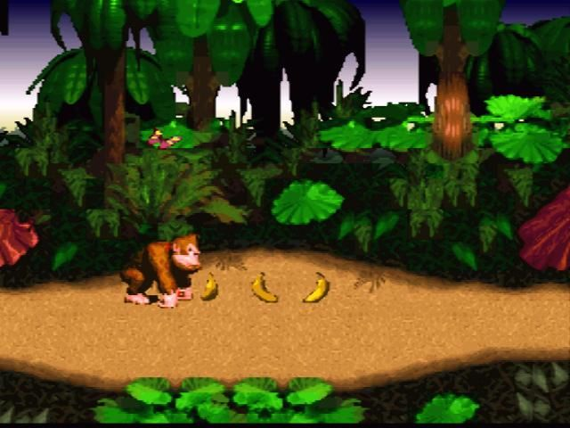 Donkey Kong Country SNES bananas are equivalent to gold in Mario games