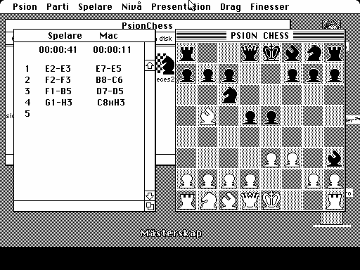 Psion Chess Macintosh Playing on 2D board