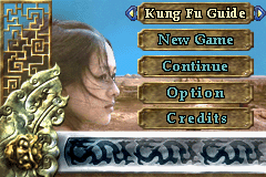 Crouching Tiger Hidden Dragon Game Boy Advance Main menu
