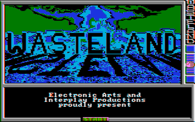 Wasteland DOS Title screen (CGA with composite monitor)