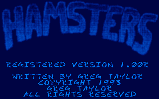 Hamsters DOS Title screen