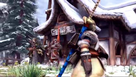 Monster Hunter: Freedom 2 PSP Shot from the intro movie