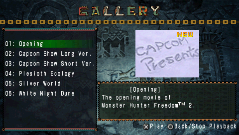 Monster Hunter Freedom 2 PSP Video gallery