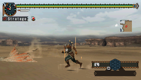 Monster Hunter Freedom 2 PSP In the desert