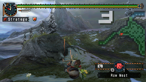 Monster Hunter Freedom 2 PSP Herborize.