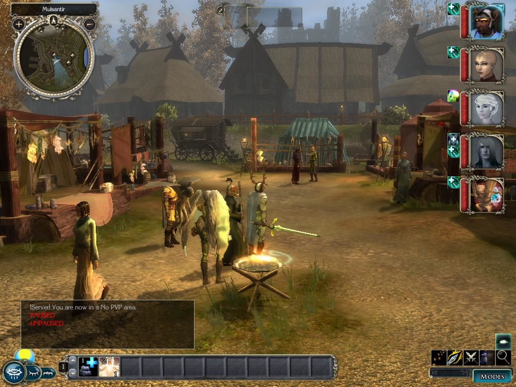 Neverwinter Nights 2: Mask of the Betrayer Windows The market in Mulsantir, the main city in the game.