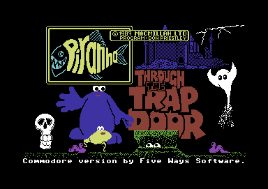 Through the Trap Door Commodore 64 Title