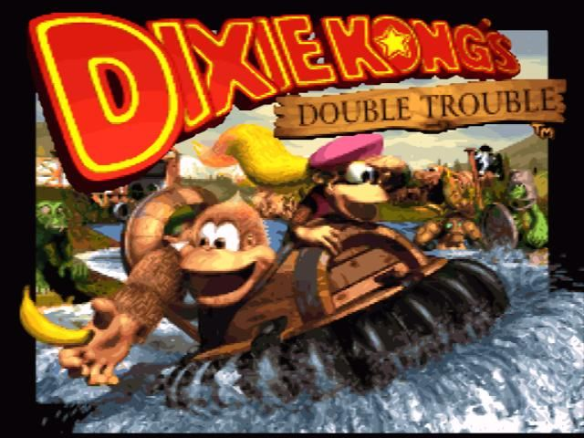 Donkey Kong Country 3: Dixie Kong's Double Trouble! SNES Title screen