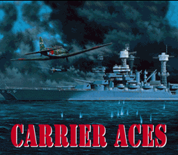 Carrier Aces SNES Title Screen