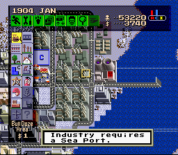 SimCity SNES The game advises when certain issues become critical.