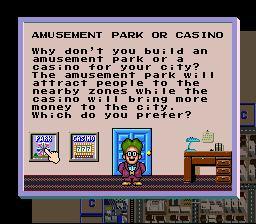"SimCity SNES Exclusive to the SNES are ""reward"" buildings, each with their own effect. In this case, only one may be chosen."