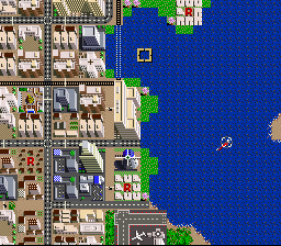 SimCity SNES It's quite possible that seaside or riverside land will become more valuable.