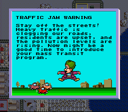 SimCity SNES Dr. Wight, the advisor, also lets the player know about issues that affect the city's growth.