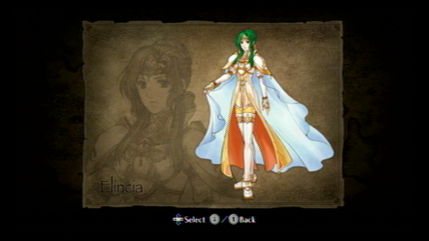 Fire Emblem: Radiant Dawn Wii Character art: Queen Elincia