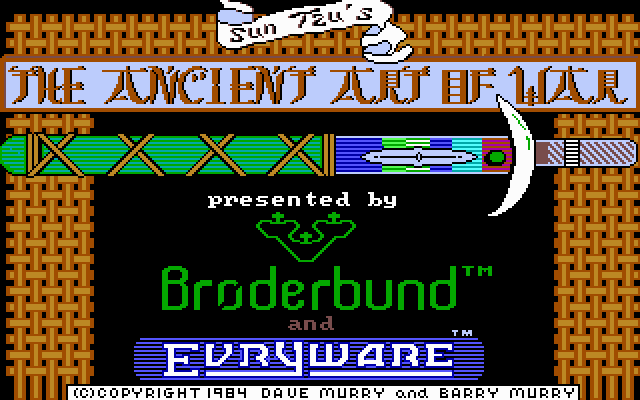The Ancient Art of War DOS Title screen (VGA)