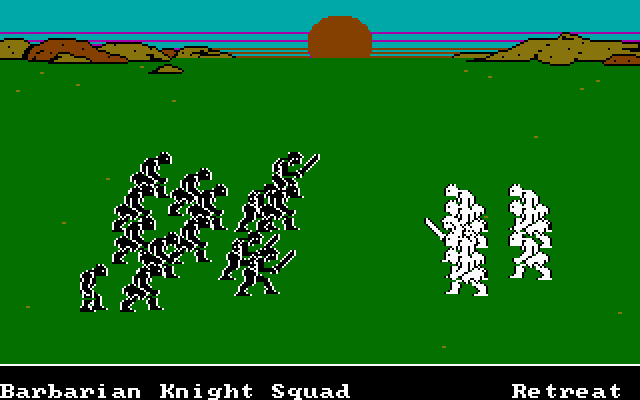 The Ancient Art of War DOS Zoomed battle - hand-to-hand fighting begins (VGA)