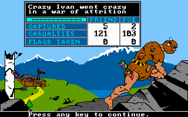 The Ancient Art of War DOS Crawling home in defeat (VGA)