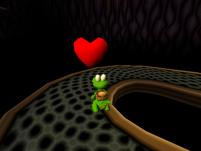 Croc 2 Windows Hearts will restore health.