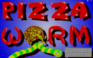 Pizza Worm DOS Title screen (v2.1)