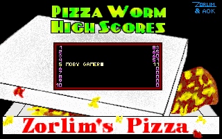 Pizza Worm DOS High scores (v2.1)