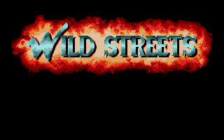 Wild Streets DOS Title Sscreen