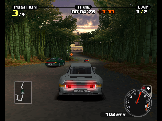 need for speed porsche unleashed screenshots for playstation mobygames. Black Bedroom Furniture Sets. Home Design Ideas