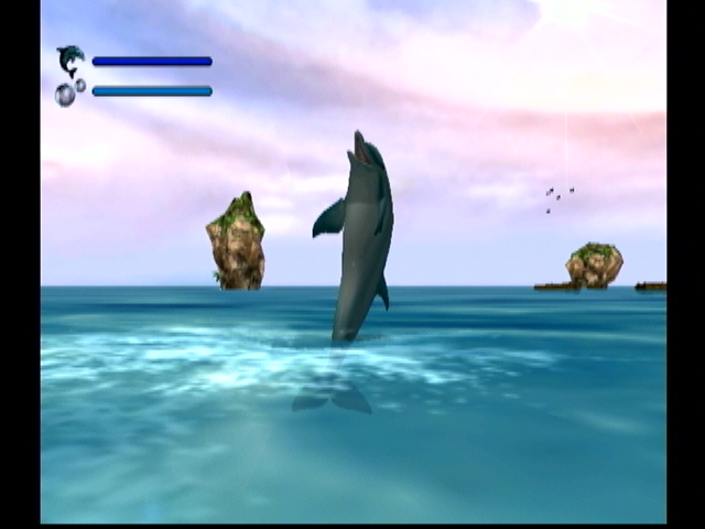 Ecco the Dolphin: Defender of the Future Dreamcast Frolicking Ecco.