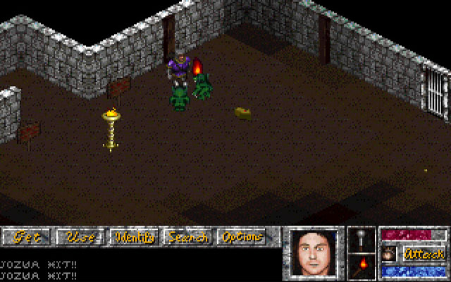 Trial by Magic DOS By entering the first level the fighting starts