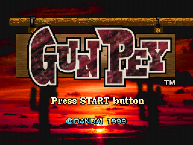 Gunpey PlayStation Title screen
