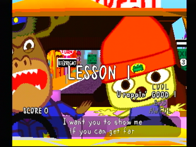 PaRappa the Rapper PlayStation ... with this wonderful rap.