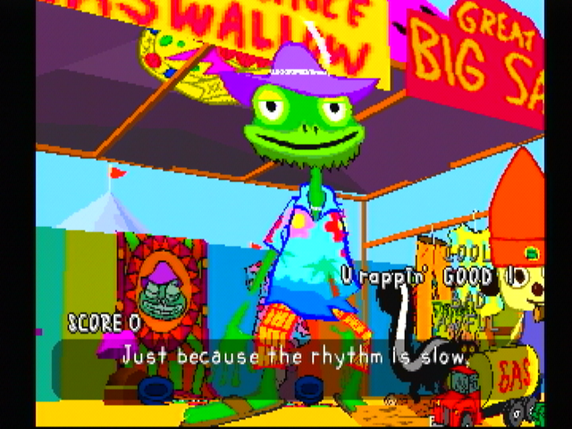 PaRappa the Rapper PlayStation Prince Fleaswallow