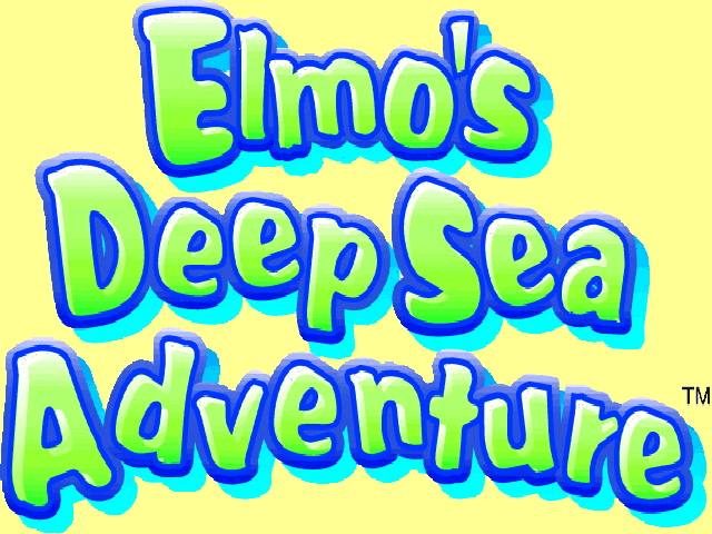 Elmo's Deep Sea Adventure Windows The title screen