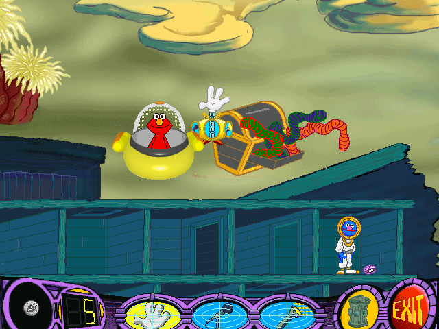 Elmo's Deep Sea Adventure Windows One never knows what might be in a treasure trunk