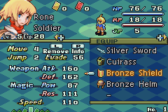 Final Fantasy Tactics Advance Game Boy Advance The equipment screen, where characters are given weapons.