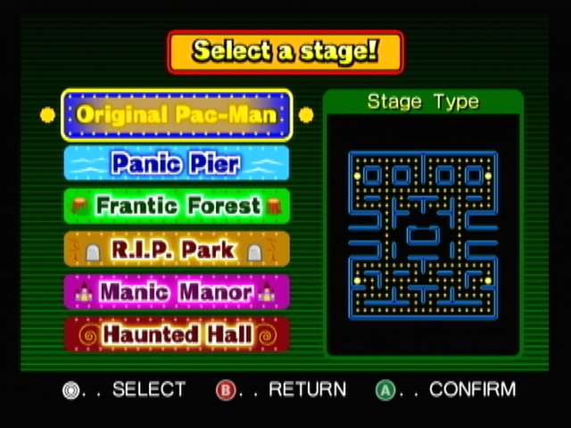 Pac-Man Vs. GameCube Good old classic map