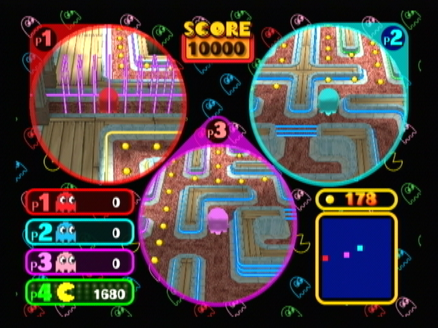 Pac-Man Vs. GameCube Manic Manor