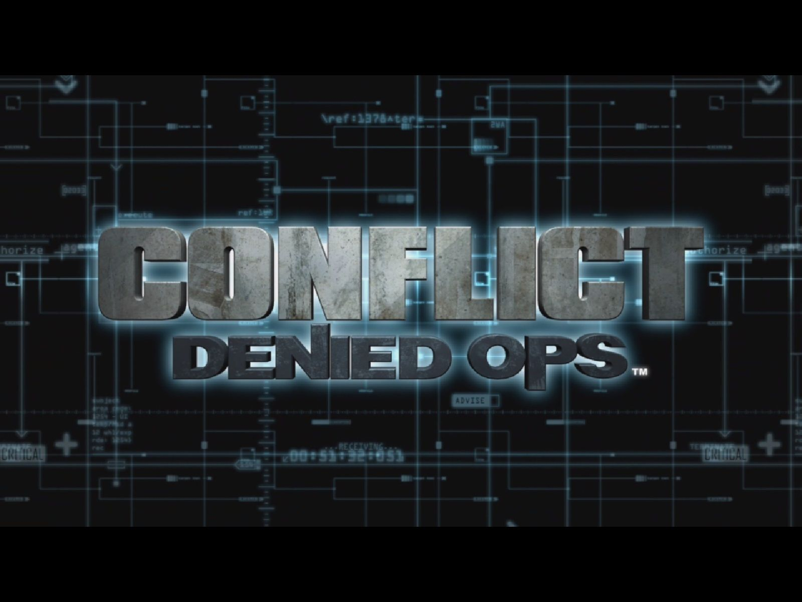 Conflict: Denied Ops Windows Splash screen