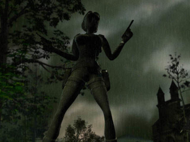 Tomb Raider: Chronicles Windows Intro: Lara's memorial statue