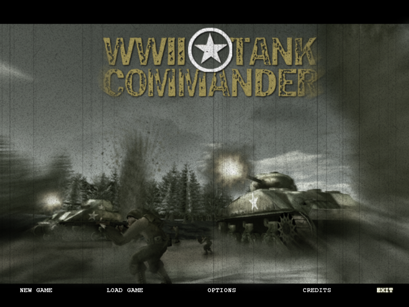 WWII Tank Commander Windows Title screen