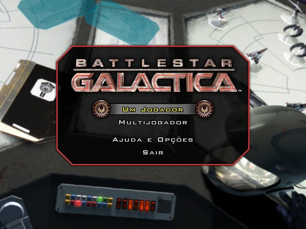 Battlestar Galactica Windows Main menu