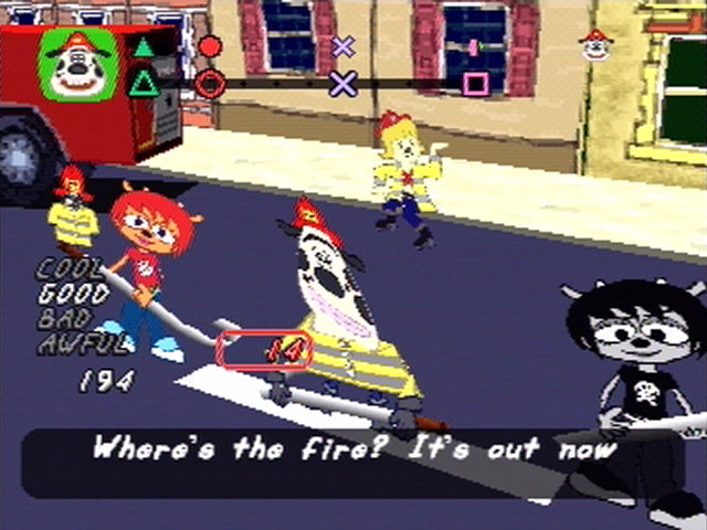 Um Jammer Lammy PlayStation You can also play the stages co-operatively with one player as Lammy, and one as Rammy.