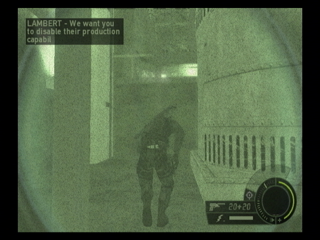 Tom Clancy's Splinter Cell: Double Agent PlayStation 2 Night vision... I wish it was night time :(