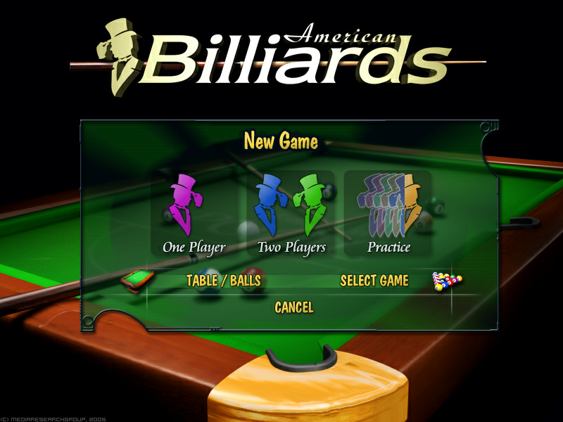 American Billiards Windows Mode select.
