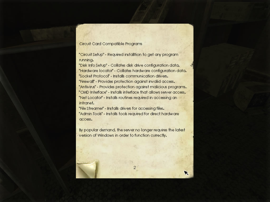 Penumbra: Black Plague Windows Many clues are provided through notes.