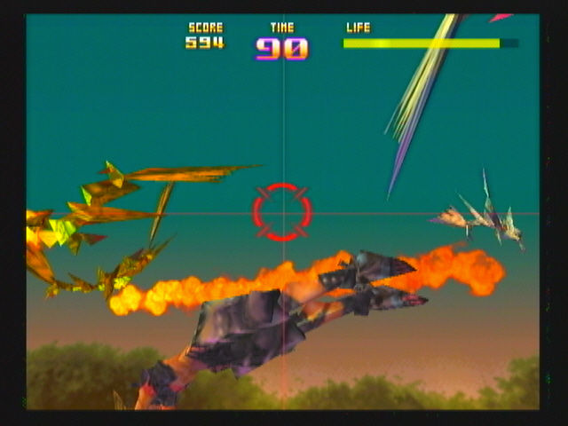 Sin and Punishment Wii This level has dinosaurs, so why no also add dragons? x_x
